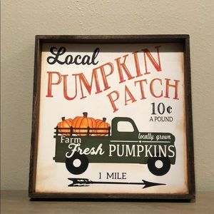 Fall pumpkin patch hand painted wood sign